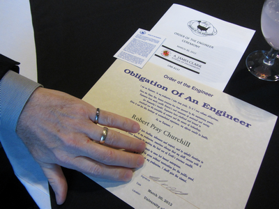Order of the Engineer ring and memorabilia